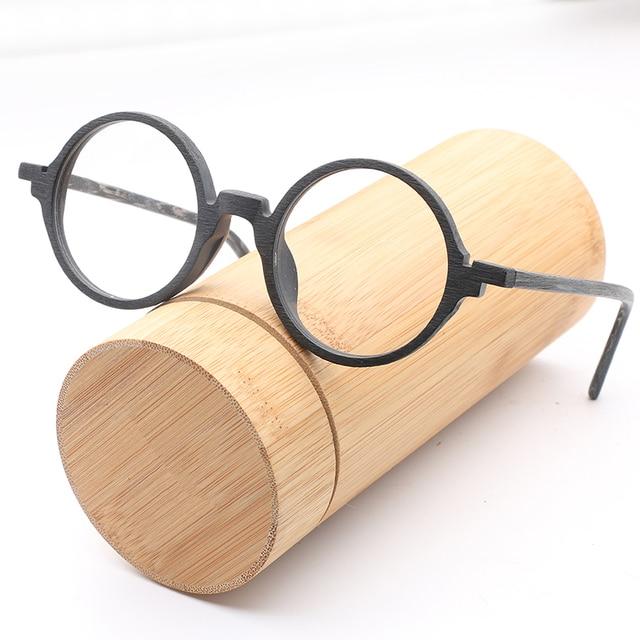 HDCRAFTER New Retro Rivet Round Eyewear Frame High Quality Men Women Optical Eyeglasses Computer Glasses Spectacle Frame