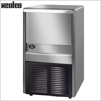 Xeoleo Commercial Ice Maker 45KG 24h Ice Machine Cube Ice 32 Pcs Each Time 20min Make