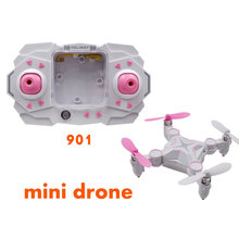 Without Camera Mini RC Drone 2.4G 4CH Remote Control RC Quadcopter One Key Return 360 Flap LED Lights Outdoor Toys for Kids
