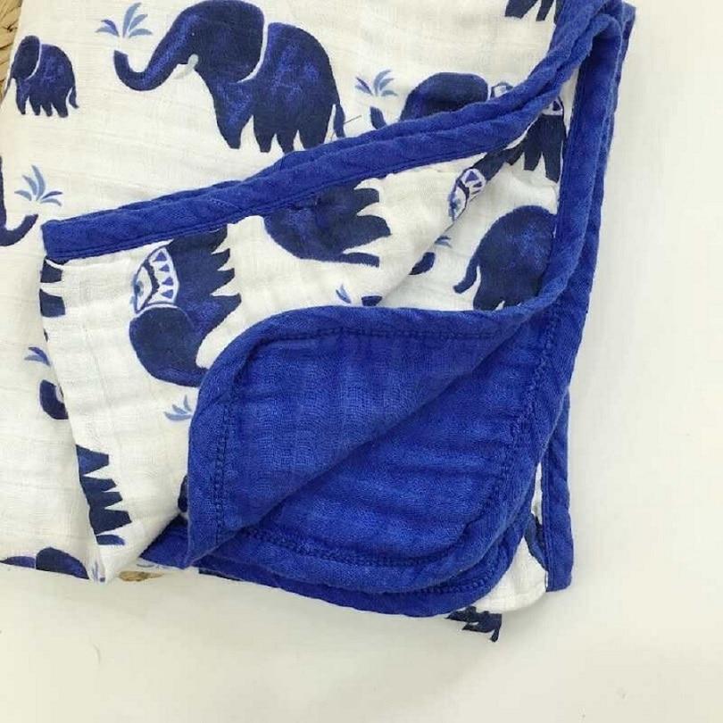 Quatre/Six Couche 100% Coton Couverture Bébé Nouveau-Né Emmailloter Super Confortable Literie Couvertures Swaddle Wrap Bébés Mousseline Couverture
