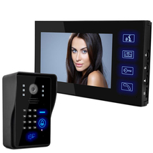 """Multifuncional HD 7 """"TFT Color Video de la puerta Sistema de Intercomunicación Del Timbre del teléfono Kit IR monitor de la Cámara del teléfono Manos Libres de intercomunicación"""