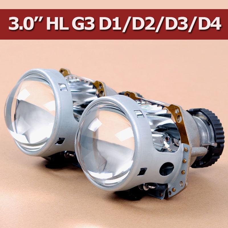 Prix pour Hotsale LHD bi-xénon Projecteur Lentille HL G3 pour D1S D2S D2H D3S D4S Ampoule Prise Domestique Lentille Xénon phare