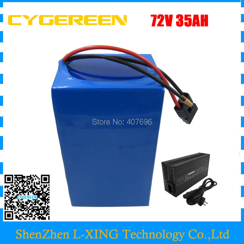 High capacity 72V Ebike battery 3500W 72V 35AH Lithium battery 3.7V 5AH 26650 Cell 50A BMS with 4A Charger Free customs tax eu us no tax 1800w 36v 40ah electric bike battery 36v 40ah e scooter battery use 3 7v 5ah 26650 cell 50a bms with 42v 4a charger