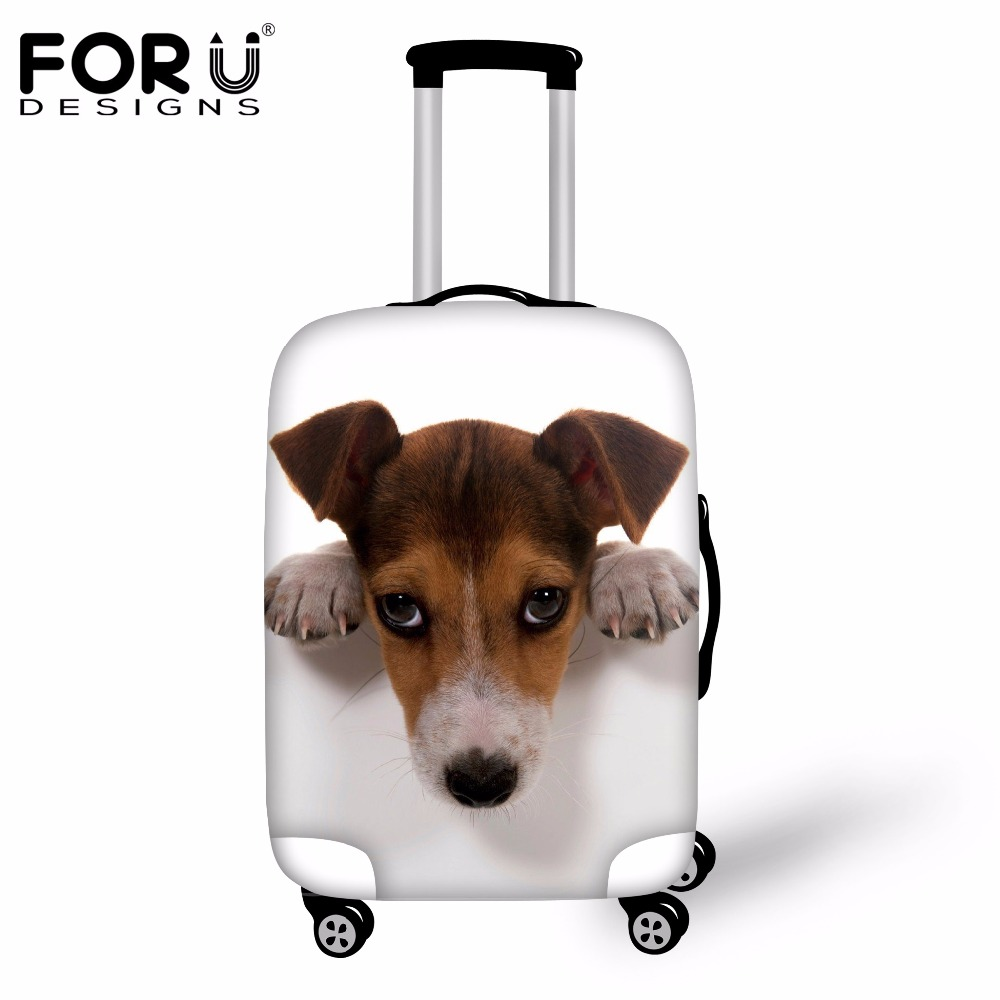 FORUDESIGNS Travel Luggage Suitcase Protective Cover 3D Cat Dog Anti-dust Covers For Trunk Case Apply To 18-30 Inch Trolley Case