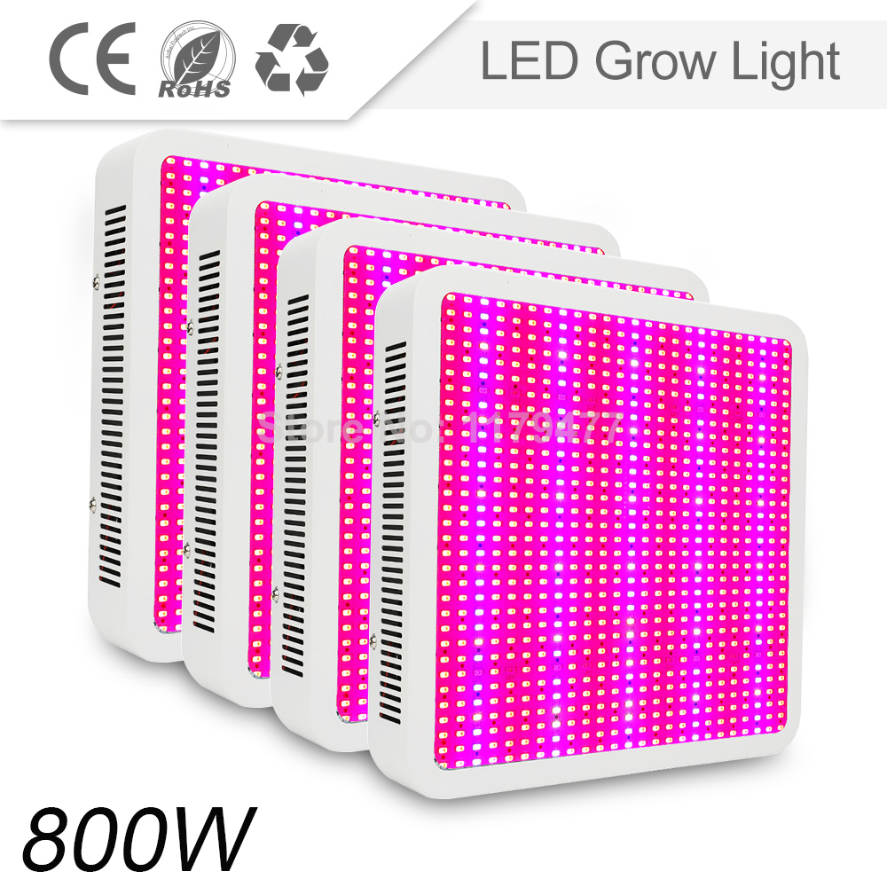Wholesale 4PCS LED Grow Light 800W SMD5630 Chips Full Spectrum led lamp for aquarium Greenhouse Grow and horticulture tent led grow light lamp for plants agriculture aquarium garden horticulture and hydroponics grow bloom 120w 85 265v high power