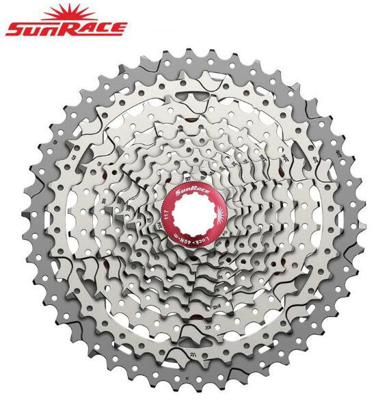 все цены на SunRace CSMX3 CSMS3 10 speed 11-46T Cassette Bike Freewheel Sprocket Mountain Bike Cassette Bicycle Parts 10-speed 11-46T онлайн