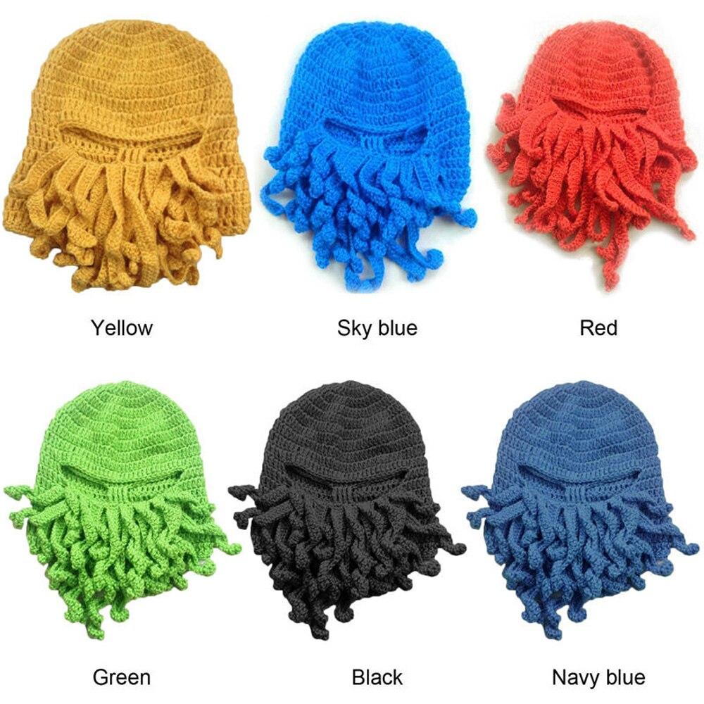 892c765913e Fashion Winter Warm Unisex Women Men Winter Warm Knit Crochet Beard Beanie  Mustache Face Mask Squid Cap Warmer Hat Hot-in Skullies   Beanies from  Apparel ...