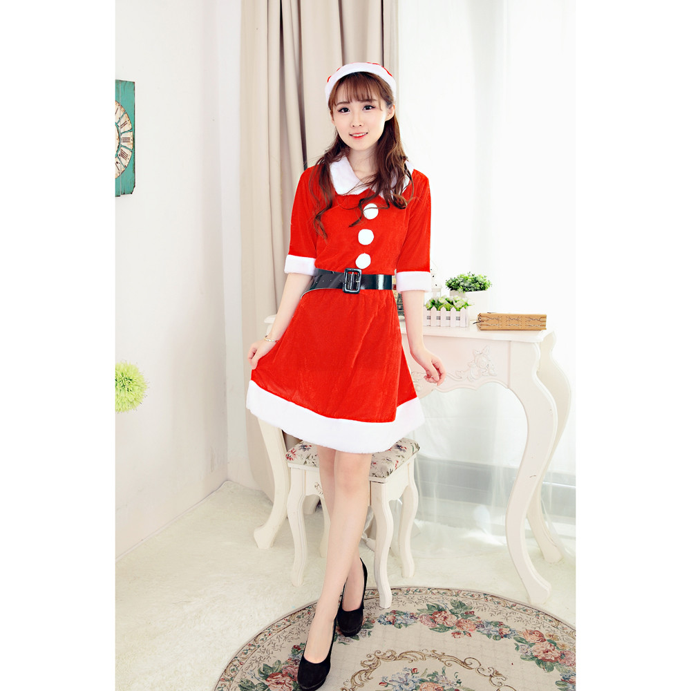 2017 Best Sale Women Sexy Santa Christmas Costume Fancy Dress Xmas Office  Party Outfit womens clothing party dresses ropa mujer-in Dresses from  Women s ... b44599dc0310
