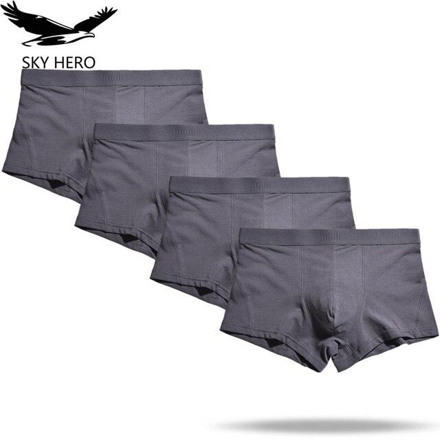 4 ピース/ロット男の下着ボクサーメンズ Boxershorts 男性パンツボクサーオム Calzoncillos 綿のパンティーゆるいプラスサイズ S XXXL