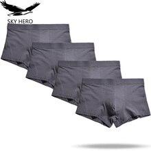 4pcs/lot Man Underwear Boxers Mens Boxershorts Male Underpants Boxer Homme Calzoncillos Cotton Panties Loose Plus Size S XXXL