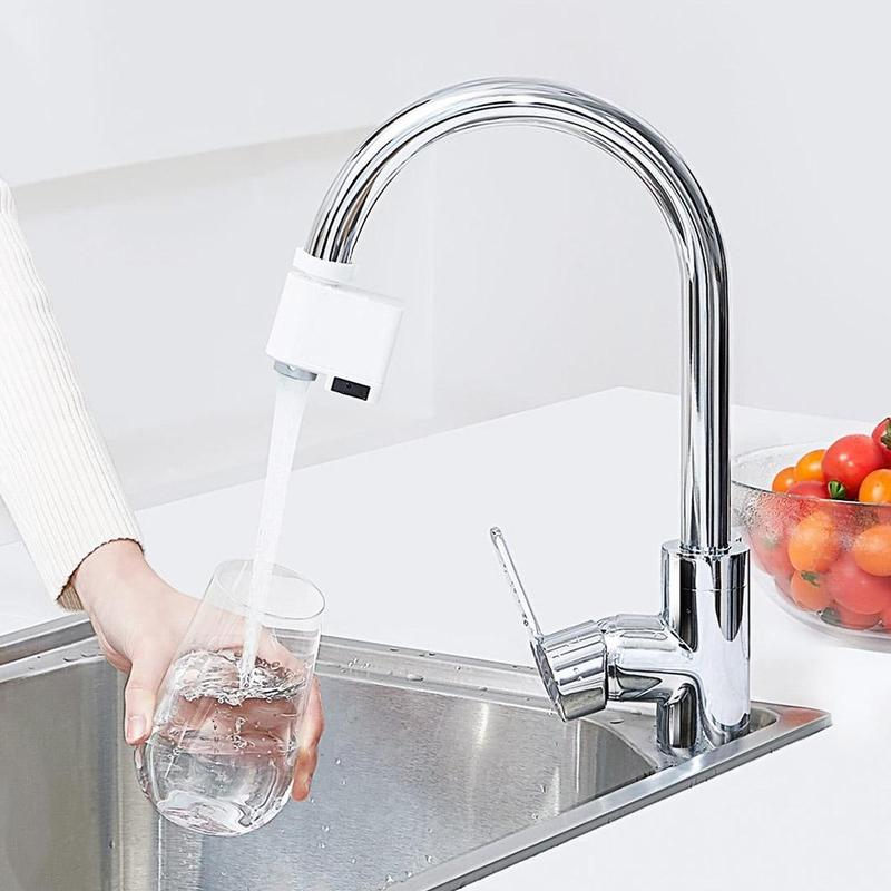 Kitchen Accessories Smart Sensor Faucets Infrared Sensor Automatic Water Saver Tap Anti overflow Kitchen Bathroom
