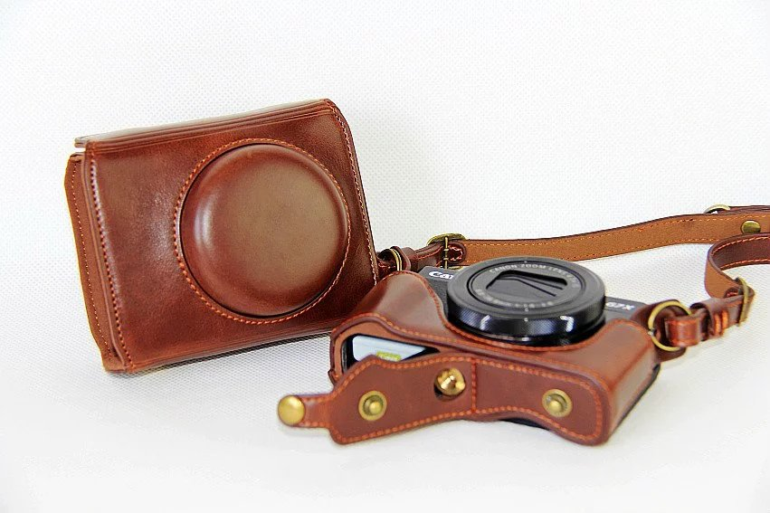 New Luxury Leather Camera Case For Canon Best deal