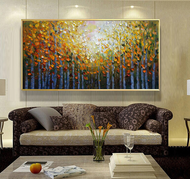 living room abstract art aliexpress buy acrylic painting landscape modern 14027