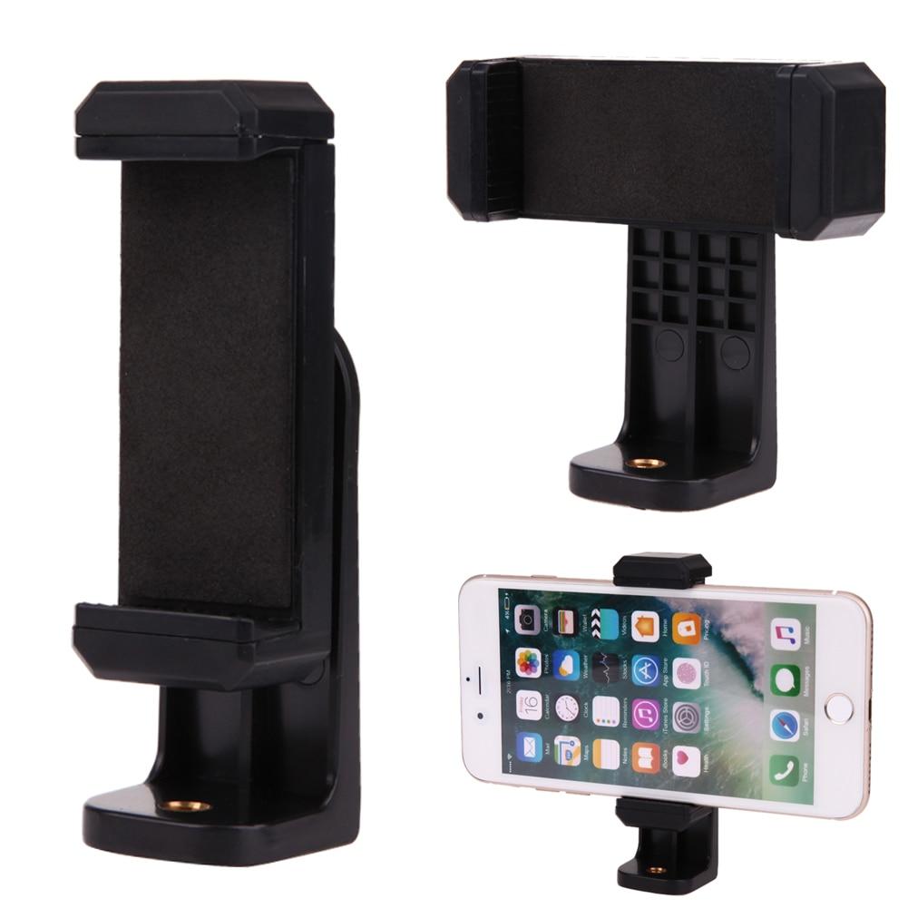 Unique Design 1/4Screw Head Phone Holder Smart Phone Stand Tripod Monopod Clip Mount 360 Degree Rotation Black Desk Holder