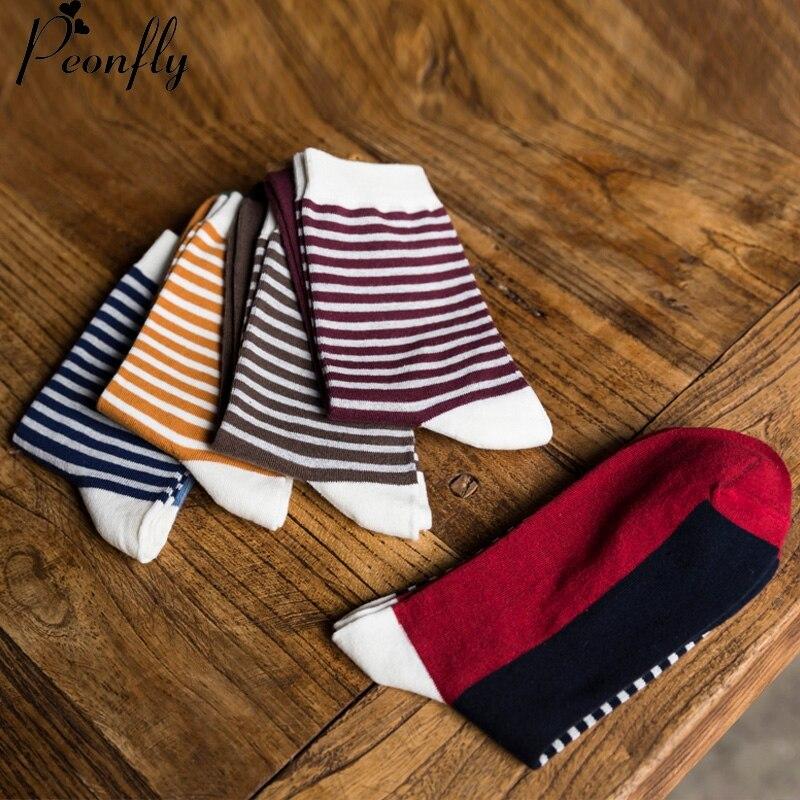 combed cotton men polka stripe strip happy socks color brand designer casual novelty dress Arrival high quality