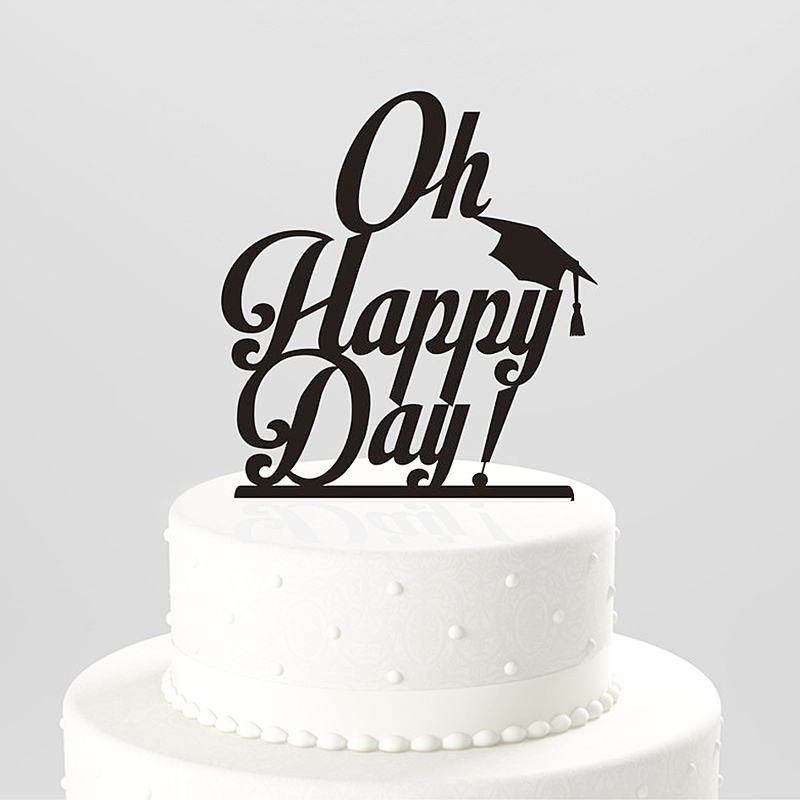 oh happy day letter wedding cake topper food safe wedding decoration wedding supplies favor. Black Bedroom Furniture Sets. Home Design Ideas