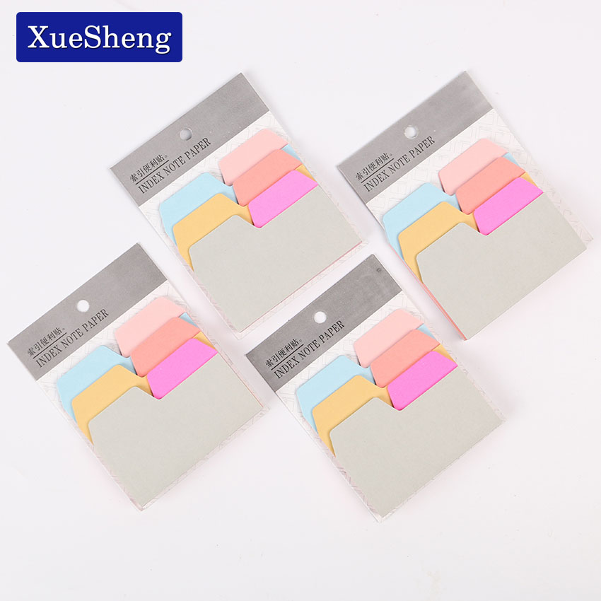 1PC 6 Color Index Note Paper Card Sticker Cute Sticky Note Post It Memo Pad for School Office Supplies Stationery Bookmark 8 pack lot cat paper bookmark ice cream paper page holder memo card stationery office school supplies separador de libros 7033 page 6