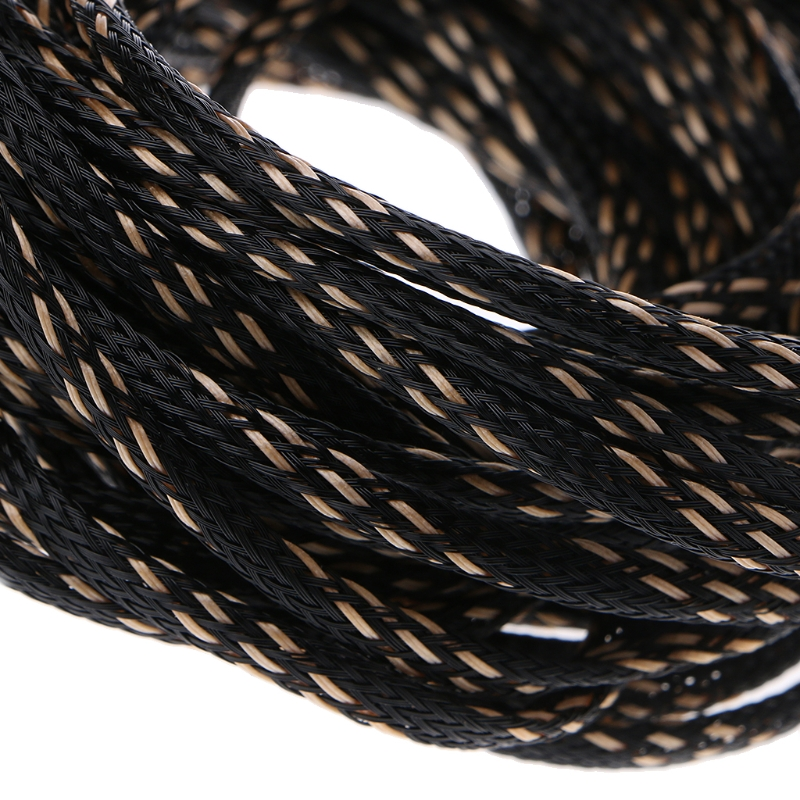1M 8mm Wire Spiral Wrap Sleeving Band Tube Cable Protector Line Management √