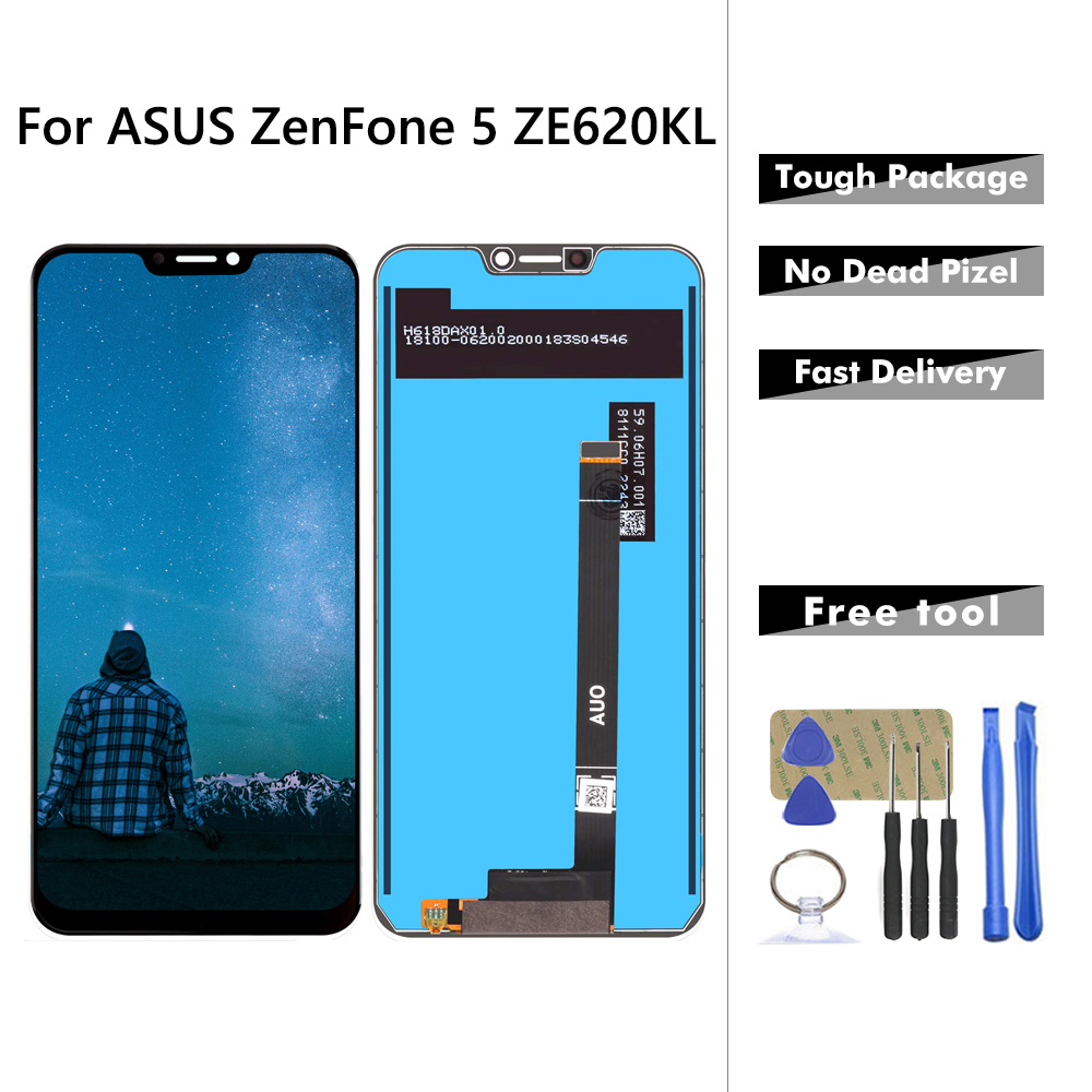 Affichage pour ASUS ZenFone 5 ZE620KL LCD écran tactile numériseur pour Zenfone 5 2018 Gamme ZE620KL LCD pièces d'affichage cadre