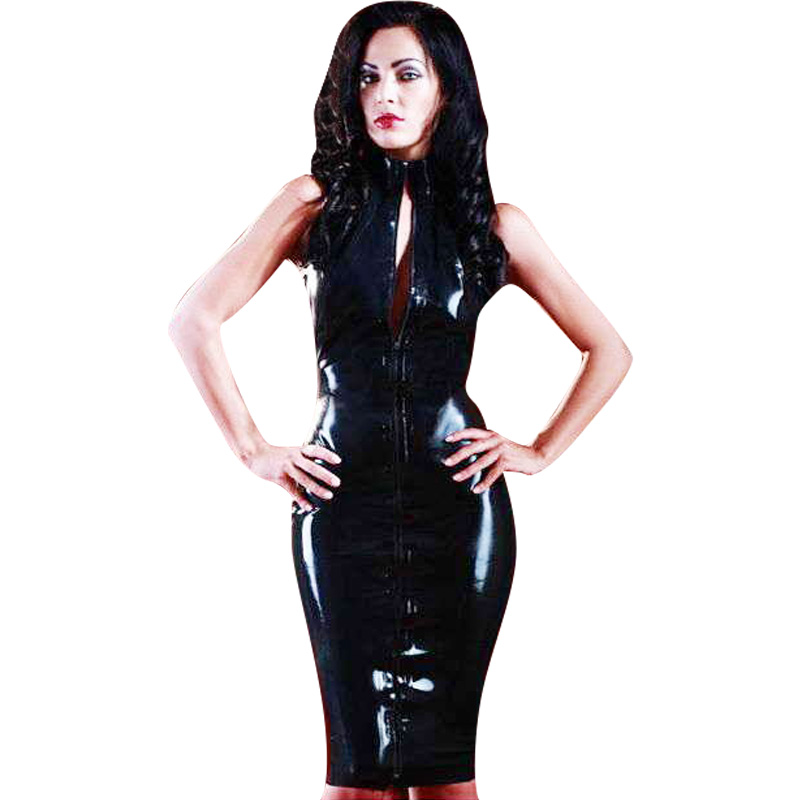Fetish suit wet woman alluring