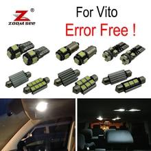 White Canbus error free LED License plate font b lamp b font for Mercedes Benz Vito