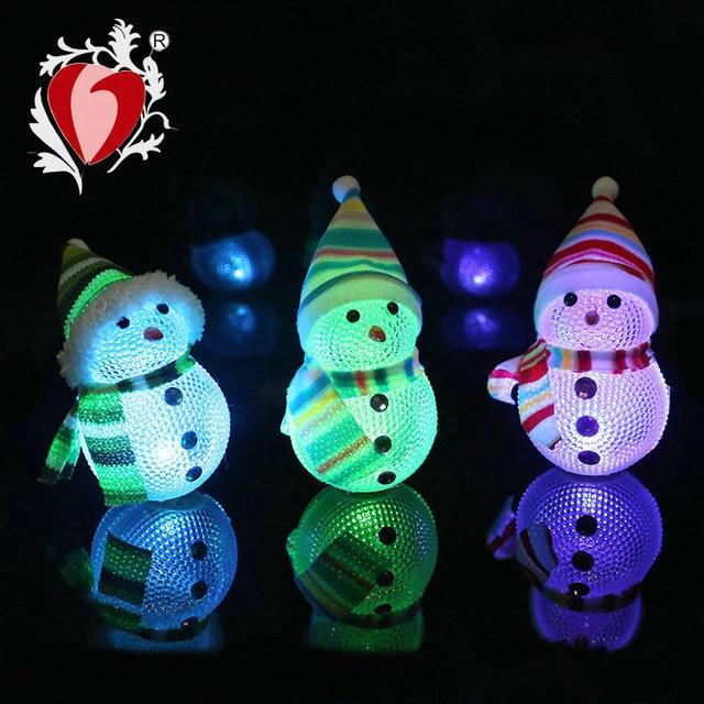 EVA Seven Lights Christmas Lights Acrylic Snow Man Wedding Festive Lights  Wholesale