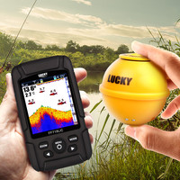 Free ShippingLucky FF718LiC WLA Wireless Portable Fish Finder 45M/147Feet Sonar Depth Waterproof Fishfinder fish attractive lamp