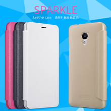 Для Meizu M5S Флип Case NILLKIN Искра Серии Пластиковые PU Флип Leather Case для Meizu Meilan M5S 5S 5.2 дюймов мобильный телефон case