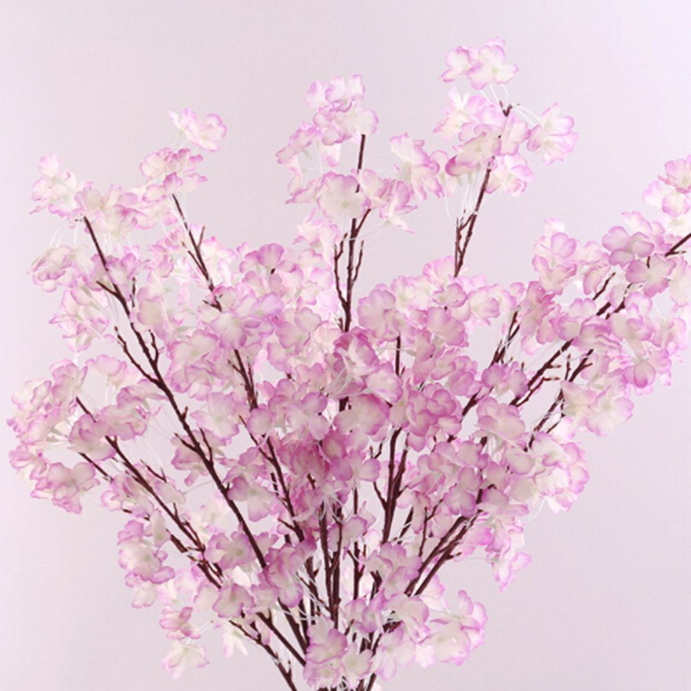 Hot Sale Artificial flowers Cherry Plum flower Artificial plants tree branch Silk flowers for home Party wedding Bouquet Useful