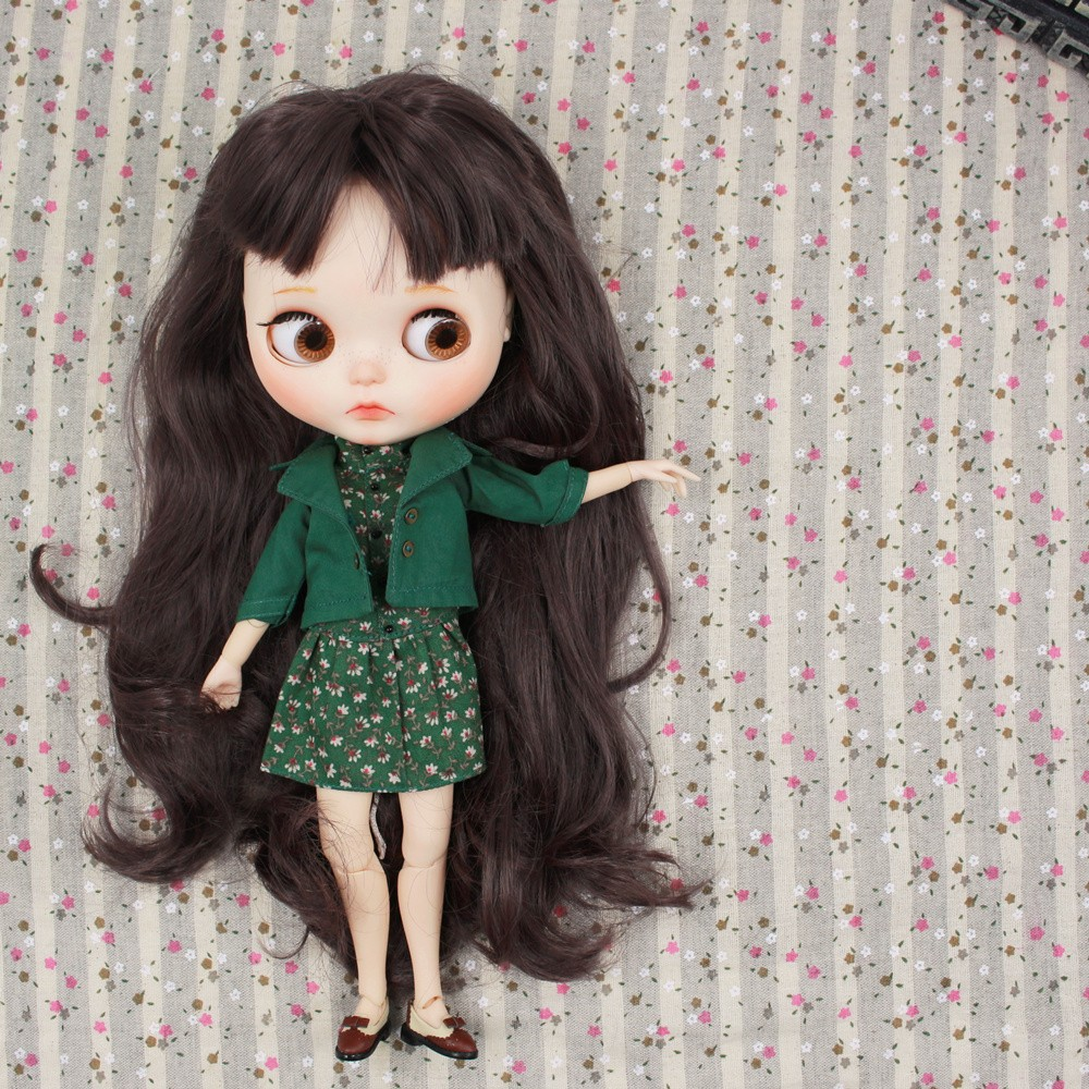 Neo Blythe Doll Floral Dress With Jacket 2