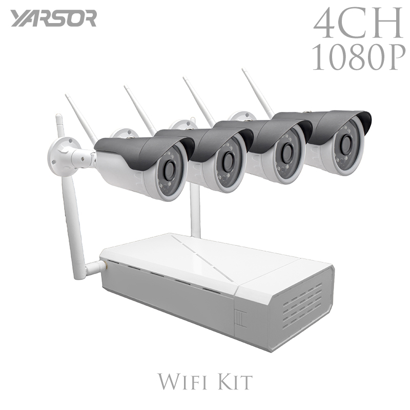 FL-WF-IP4200A 4Ch IP Wifi NVR Kit 1080P  Wireless  Video Surveillance System 2.0MP Onvif P2P Wifi IP Kamera Outdoor  Infrared