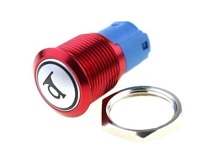 CNCCANEN 12mm Momentary Push Button Switch 1NO1NC ON//Off Metal Shell with White LED Ring 4 Pin for Car RV Truck Boat Size 24V Latching Red
