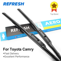 Free Shipping Framless Wiper Blade For Toyota Camry Soft Rubber 24 20 Windshield Wiper Blade 2pcs