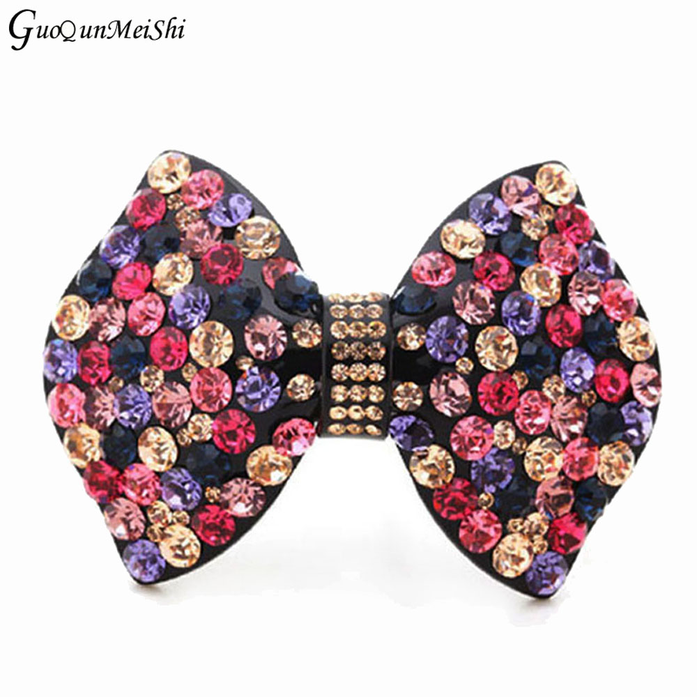 Luxury Hair Clips Acetate Cellulose butterfly With Rhinestone Hair Accessories Bridal for Women Clamp Clips Gifts