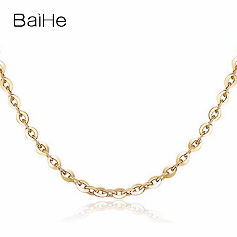 BAIHE Solid 18K Yellow Gold Certified Women Trendy Fine Jewelry Elegant unique NecklacesBAIHE Solid 18K Yellow Gold Certified Women Trendy Fine Jewelry Elegant unique Necklaces