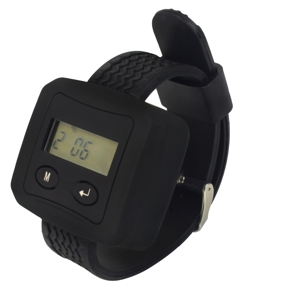TIVDIO 433.92MHz Wireless Calling Paging System Watch Receiver Guest Waiting Pager For Hotel Hospital Pager Watch Call F3228A wireless buzzer calling system new good fashion restaurant guest caller paging equipment 1 display 7 call button