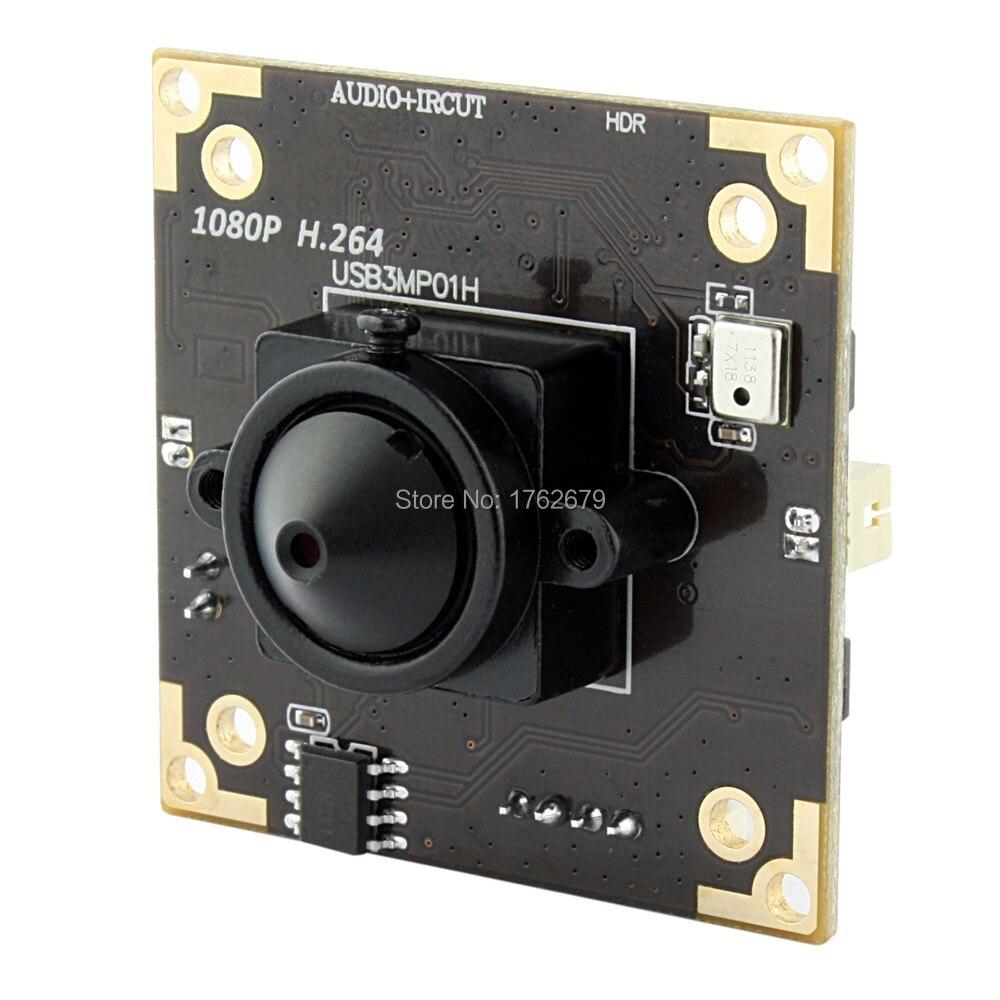 38*38mm size 3MP 2048X1536 MJPEG Aptina AR0331 CMOS Wide Dynamic Range WDR CCTV Camera PCB Board with 3.7mm lens for Windows