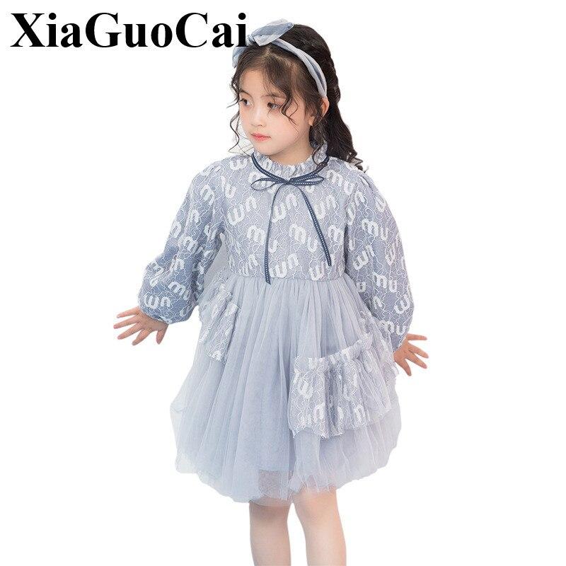 Été bébé fille robe 2019 nouveaux enfants doux mode filles élégantes robe de princesse enfants vêtements Style européen fête de mariage - 2