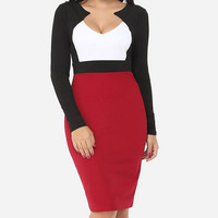 KL212 High quality women bodycon full sleeve sexy V-neck plus size party dresses good body