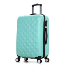2017New Diamond Tie Box Luggage ABS Business Men and Women's of Boarding Suitcase Trolley on Wheels