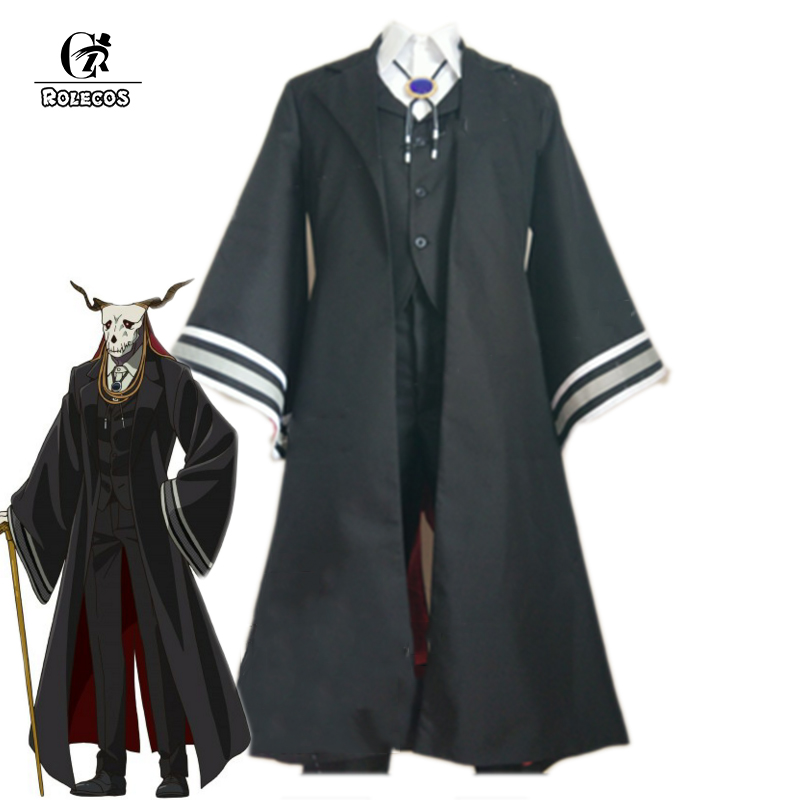 ROLECOS 2017 New Anime Mahoutsukai no Yome Cosplay Costumes Elias Uniform Japanese Anime The Ancient Magus Bride Black Full Set лайтбокс самолет 45x45 025