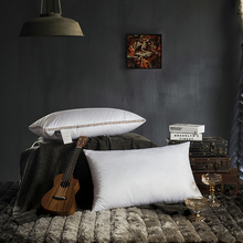 White Brief Solid Hotel Style Pillows 48x74cm Polyester Fabric Filler Neck Pillow Massage Therapy Bedding Homeuse
