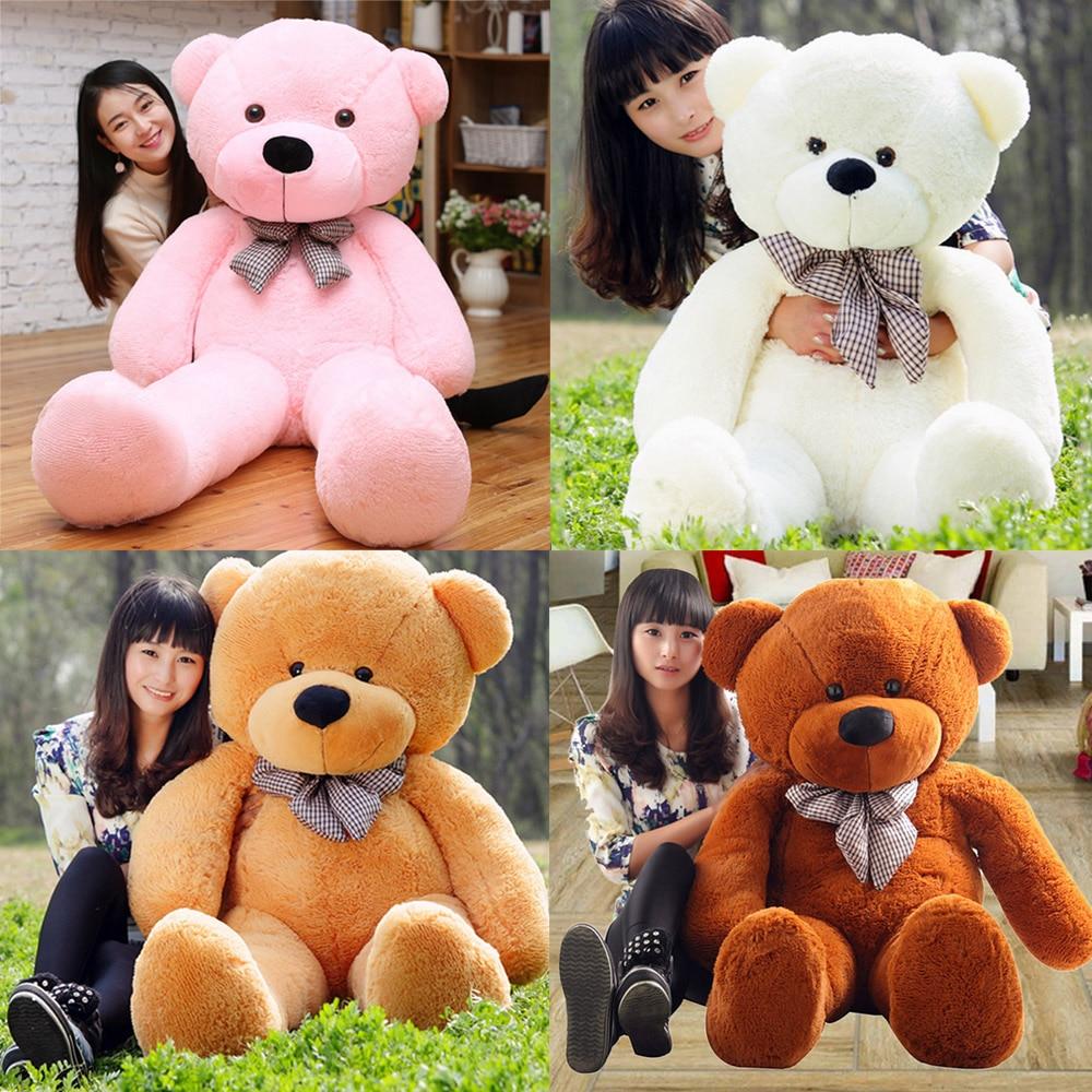 31.2 inches Cartoon Bear Giant Huge Cuddly Stuffed Animals&Plush Doll Plush Stuffed Toys Sleeping Back Cushion Children kid Gift