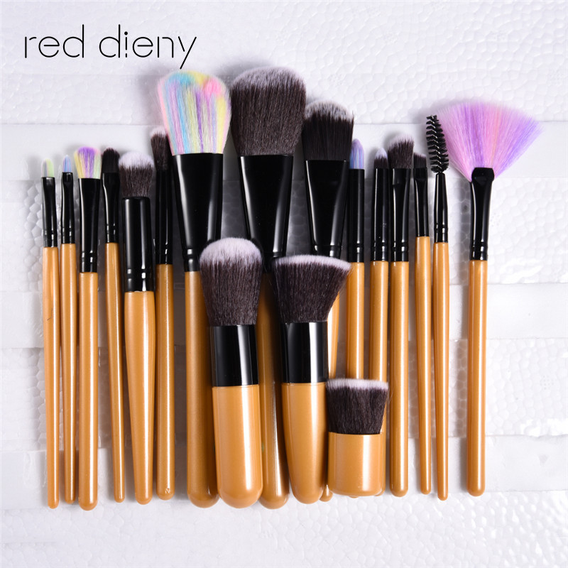18 pcs Eye Makeup Brushes Set Eyeshadow Blending Brush Powder Foundation Eyeshadading Eyebrow Lip Eyeliner Brush Cosmetic Tool 8pcs beauty makeup brushes set eyeshadow blending brush powder foundation eyebrow lip cosmetic make up tools pincel maquiagem