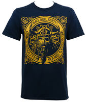 LEQEMAO Authentic BLACK LABEL SOCIETY BLS Odin Demolition Squad T Shirt Navy NEW Short Sleeves Cotton