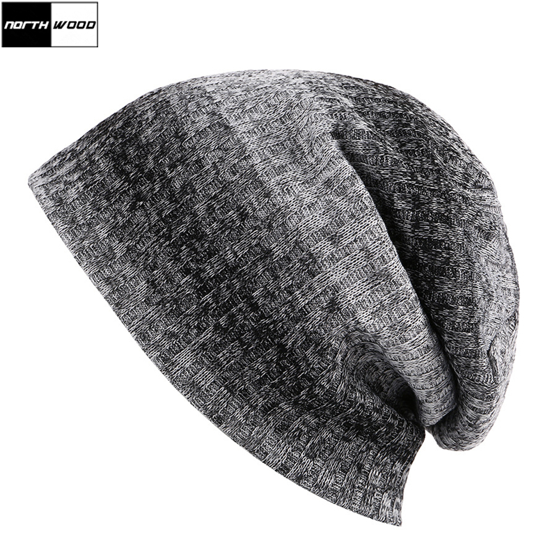 [NORTHWOOD] 2018 Mens   Beanie   Striped Knitted Hat For Women   Skullies     Beanies   Autumn And Winter Warm Gorro Bonnet Touca Muts