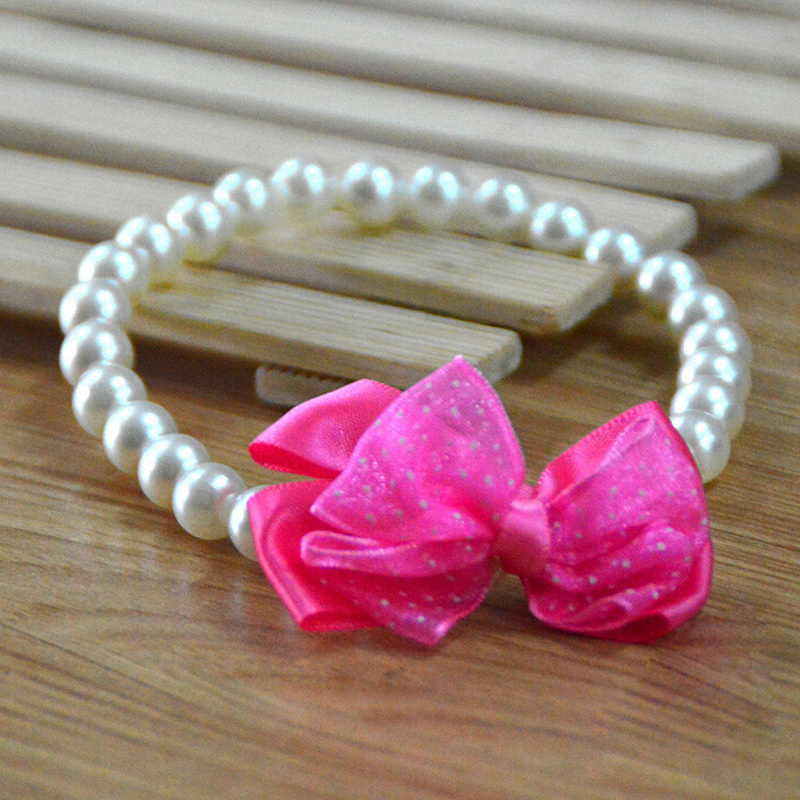 40 Pcs Pet Supplies Fashion Pearl Dog Tie Wedding Accessories Cat Bowtie Collar Holiday Decoration Christmas