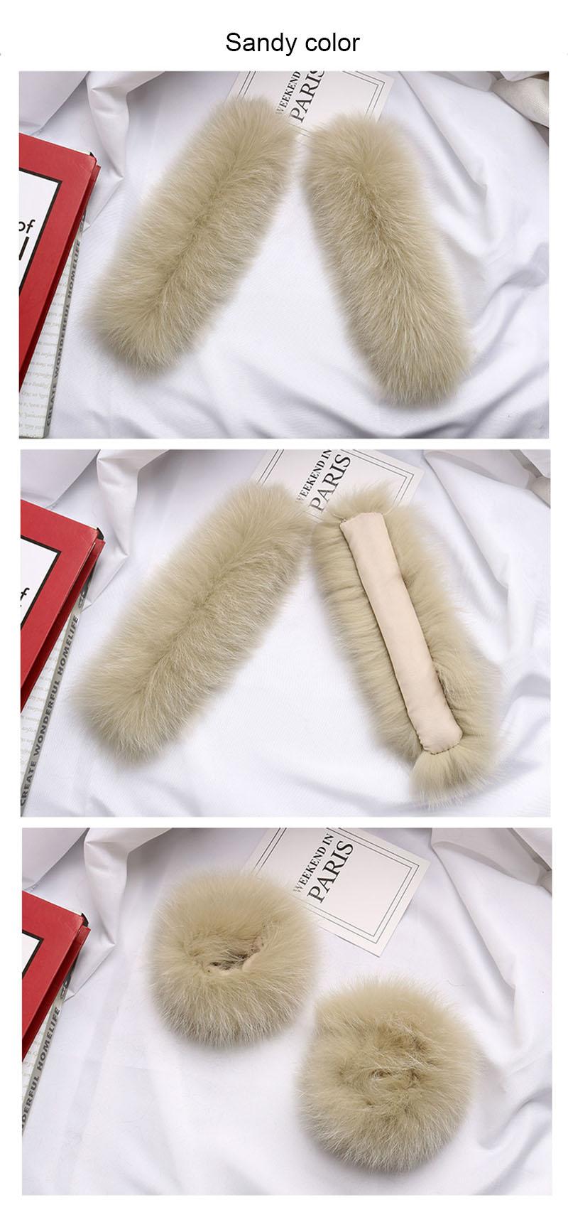 fox fur slap cuffs color sandy