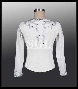 Free Shipping Professional Blue Color Male Tunic Man Ballet Top Dance Wear For Ballet Show Man\'s Ballet Jacket MT002