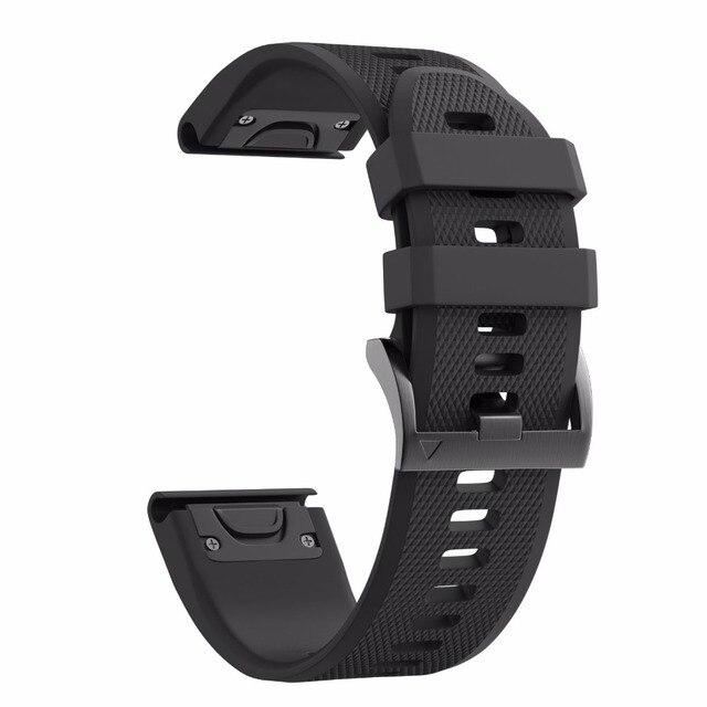 26mm Larghezza Cinturini Per Garmin Fenix 5x/3/3hr Sport Banda Di Silicone Con E